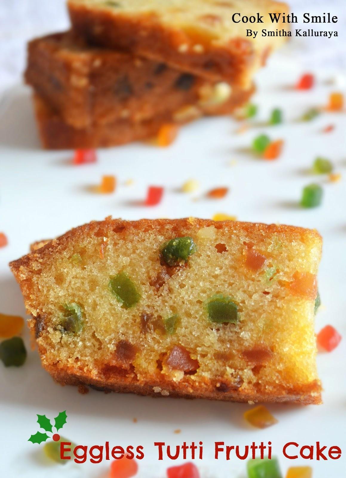 Tutti Frutti Sponge Cake Recipe