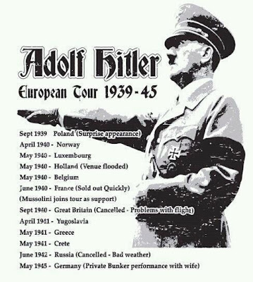 Adolf Hitler European tour poster