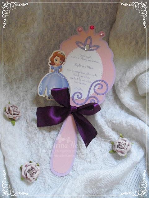 Invitaciones de Cumpleaños con Princesa Sofía