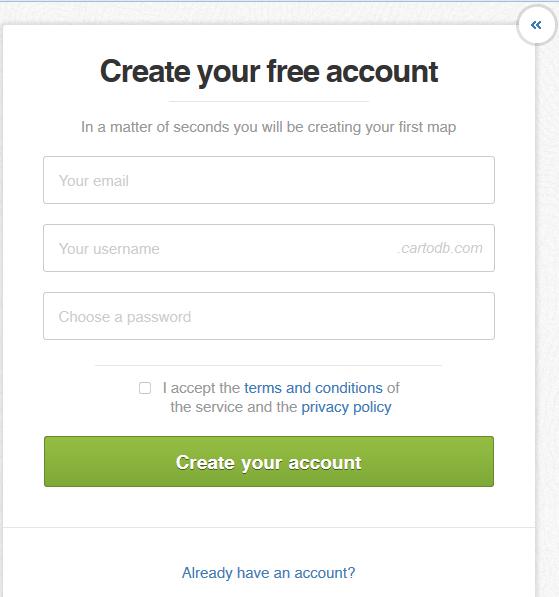 Creando Cuenta