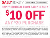 March/April Sally's Coupon