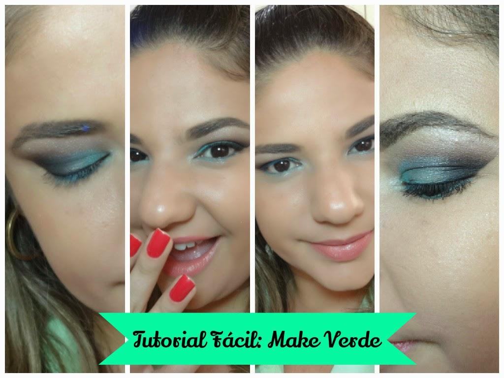 tutorial fácil maquiagem verde