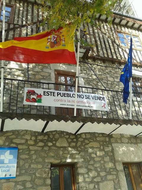 pancarta en Mogarraz