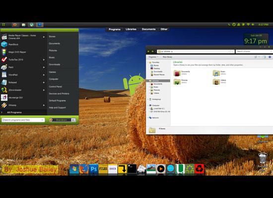 Tema Android untuk Windows 7 Gratis