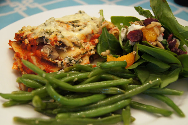 sutton grace spinach and mushroom lasagna