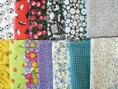 Temos tecidos  variados.....Tricoline, Algodão, Chitão, Feltro...