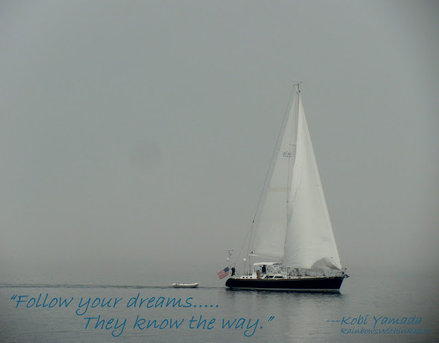 photo of: Sailboat with Quote: Follow your dreams.............