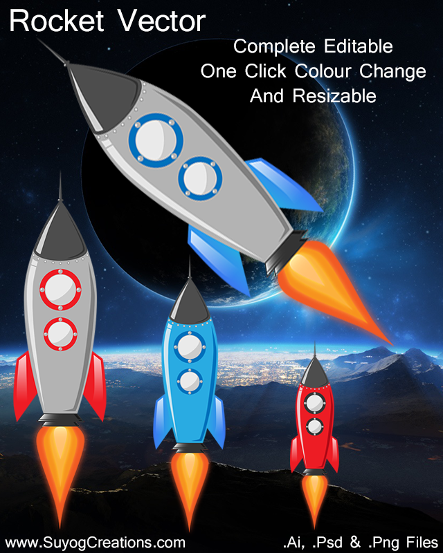 Rocket Vector for Free Ai Psd and Png Files.