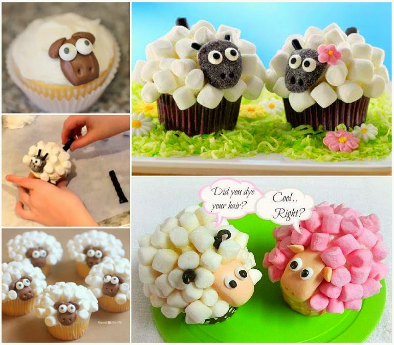 DIY Marshmallow Sheep
