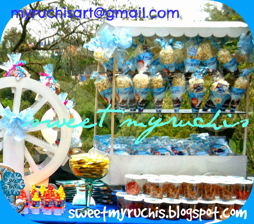 mesa con dulces para fiestas frozen isabella eventos