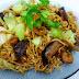 Chow Mein with shiitake mushrooms