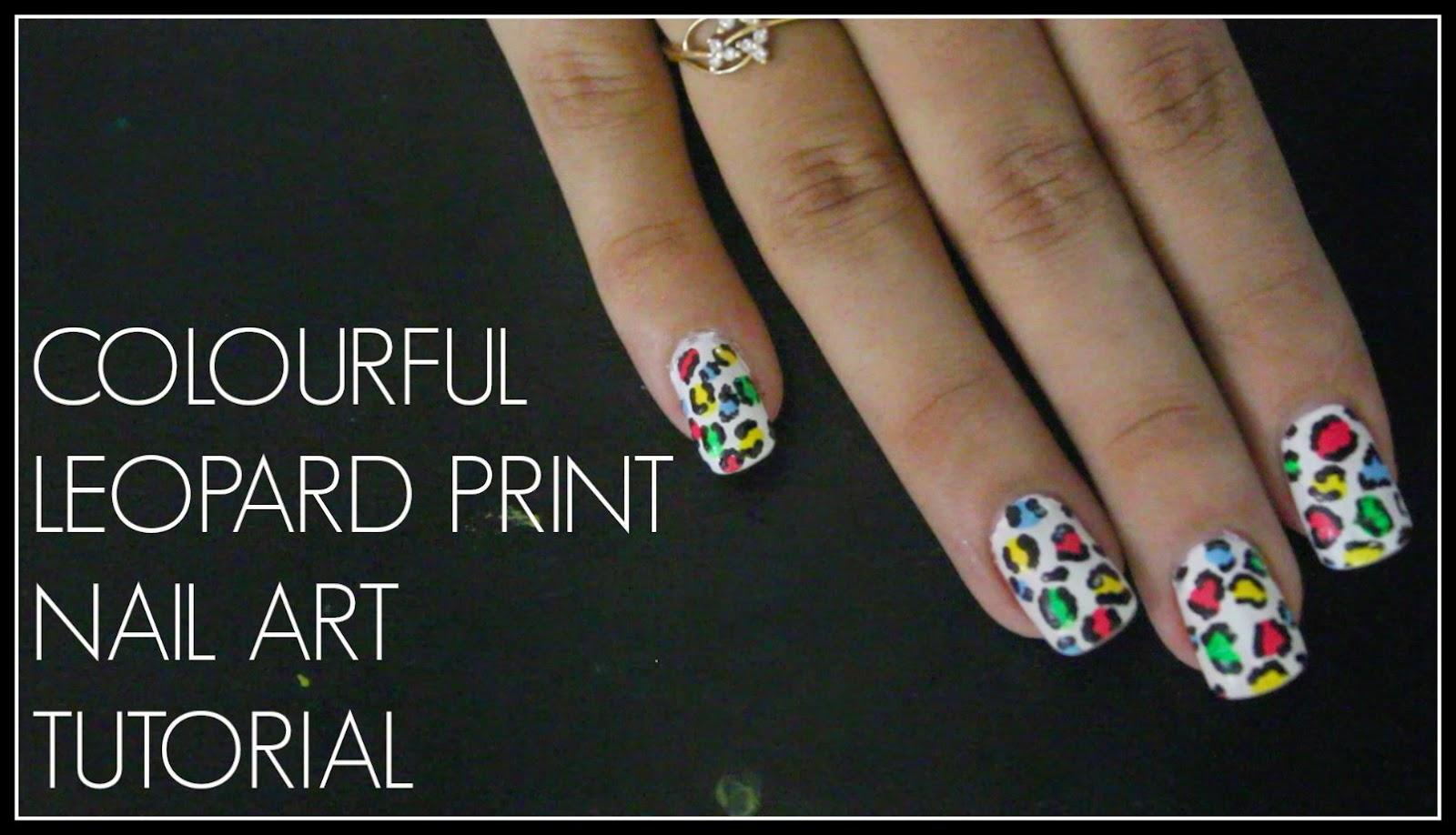 Easy Leopardanimal Print Nail Art Tutorial Debasree Banerjee