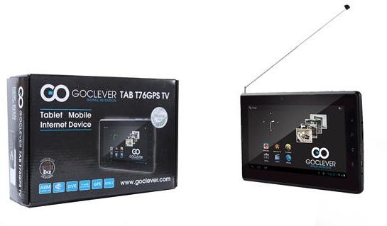 Как обновить прошивку GOCLEVERTAB T76 GPS TV
