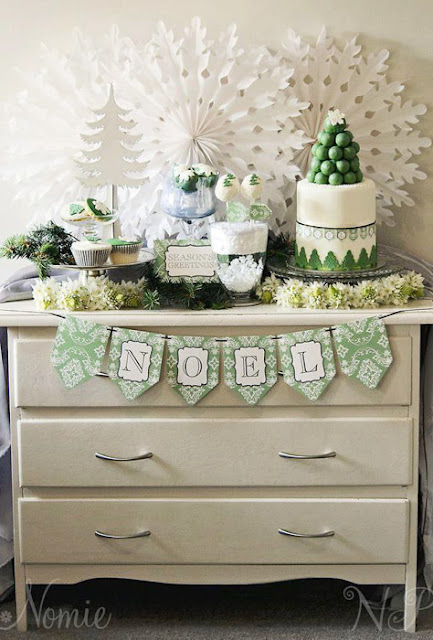 http://ablissfulnest.com/2012/12/bn-black-book-of-parties-green-and-white-christmas-dessert-table.html