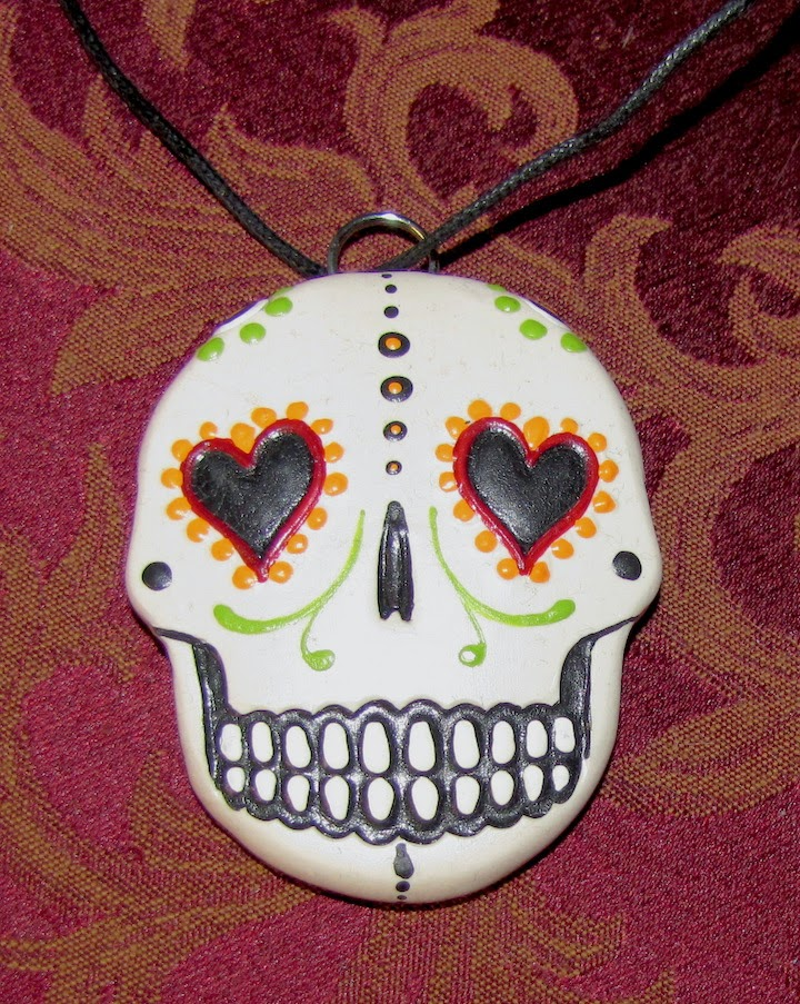Day of the Dead calavera necklace