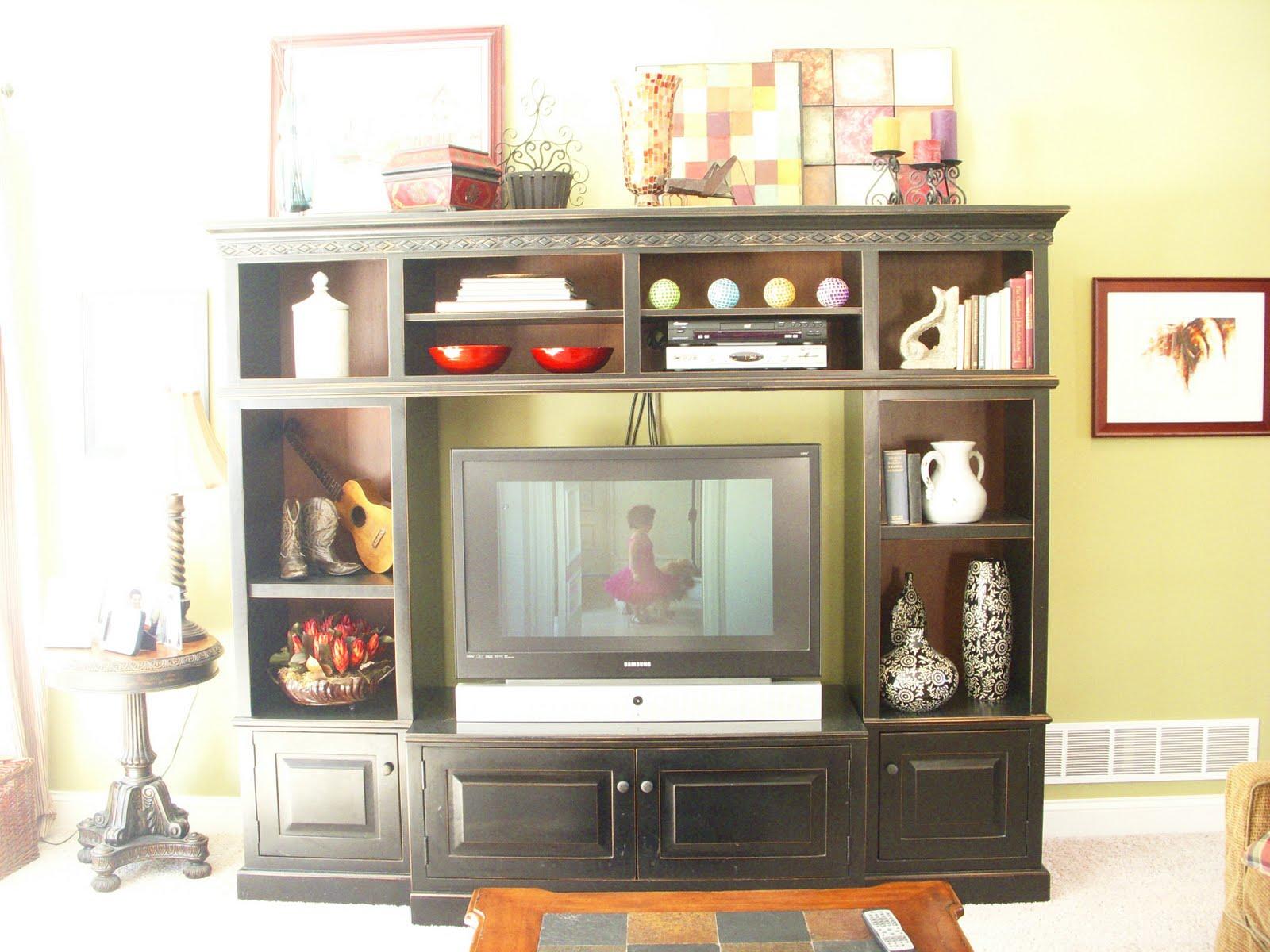 decorating ideas for entertainment center shelves 28. Black Bedroom Furniture Sets. Home Design Ideas