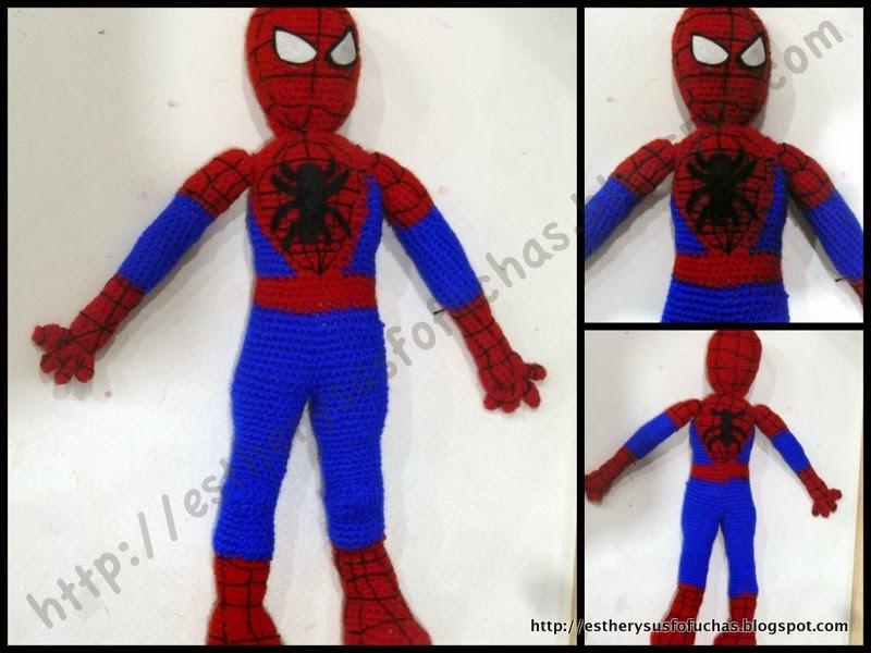 Amigurumi Spiderman Patron : ESTHER Y SUS FOFUCHAS: AMIGURUMI SPIDERMAN (PARA PABLO DE ...
