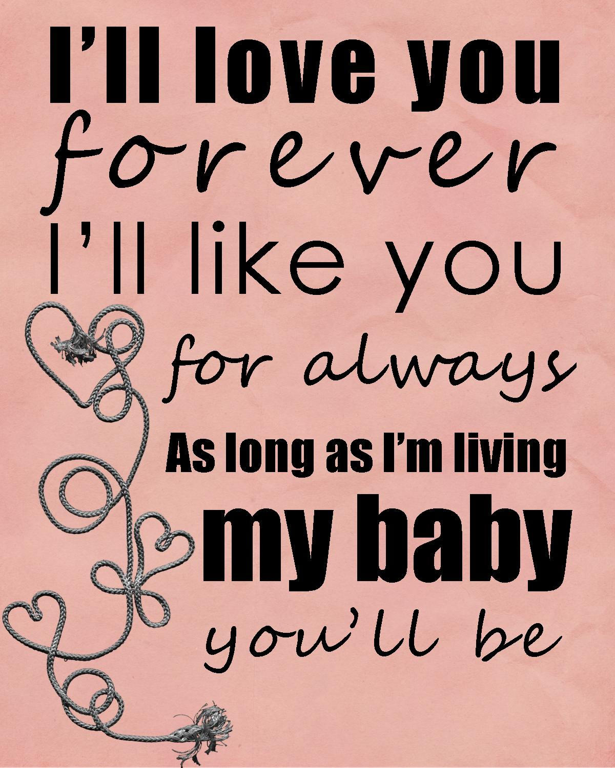 I Ll Love You Forever Quote Mother Loves Her Son Quotes