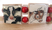 bracelet made from Skinny Cow package