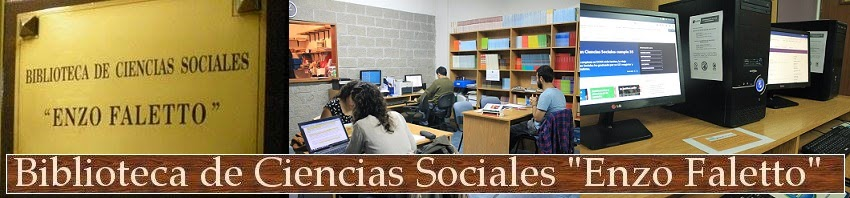 """Biblioteca de Ciencias Sociales """"Enzo Faletto"""""""