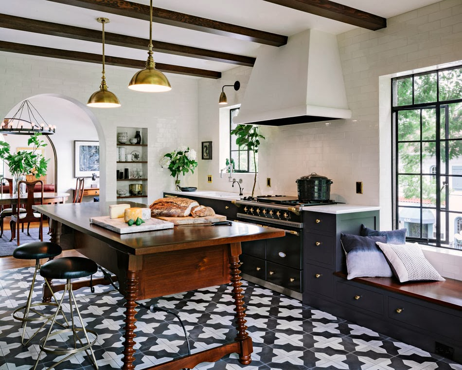 Cement tile kitchen cococozy for Cement tiles for kitchen
