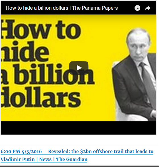 The Panama Papers: Revealed: the $2bn offshore trail that leads to Vladimir Putin - The Guardian