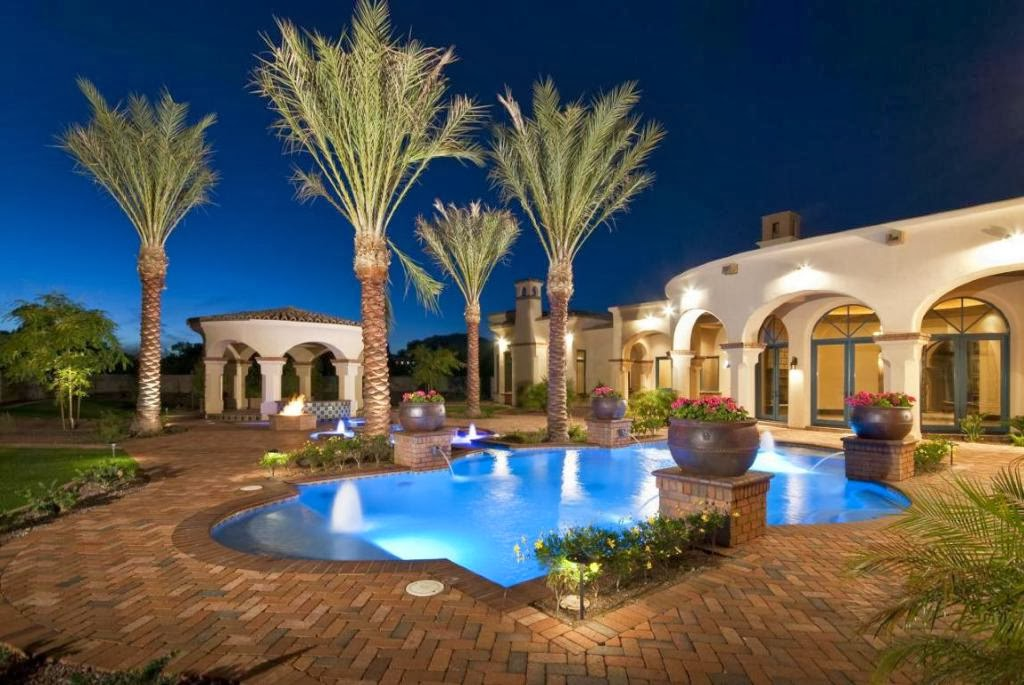 A paradise valley arizona estate with endless elegant details for Arizona home builders