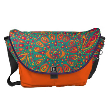 Eye of Fire Courier Bag