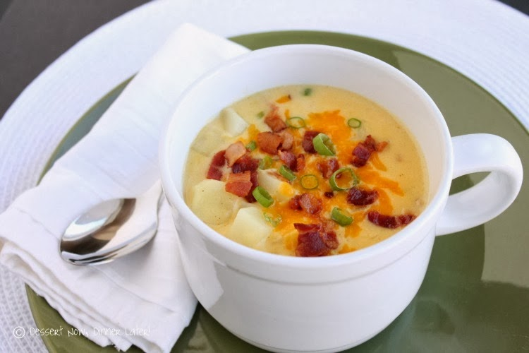 Loaded Bacon and Cheddar Baked Potato Soup | Girl Cooks World