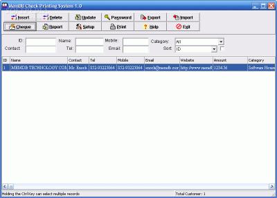 free Download MemDB Check Printing System