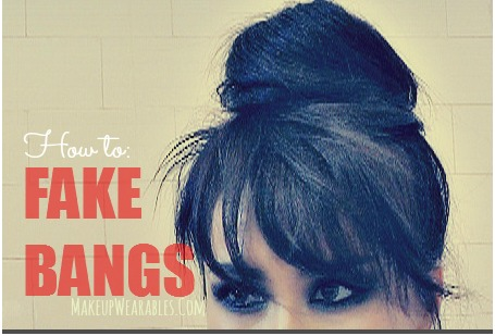 easy hairstyles fake bangs