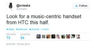 HTC Segera Luncurkan Ponsel Musik di 2014