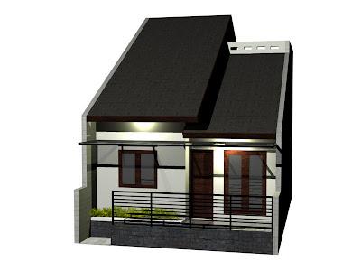 desain rumah kecil ukuran 60m2