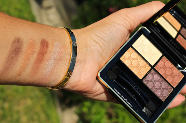 Gucci Magnetic Color Shadow Quad Crystal Copper swatches