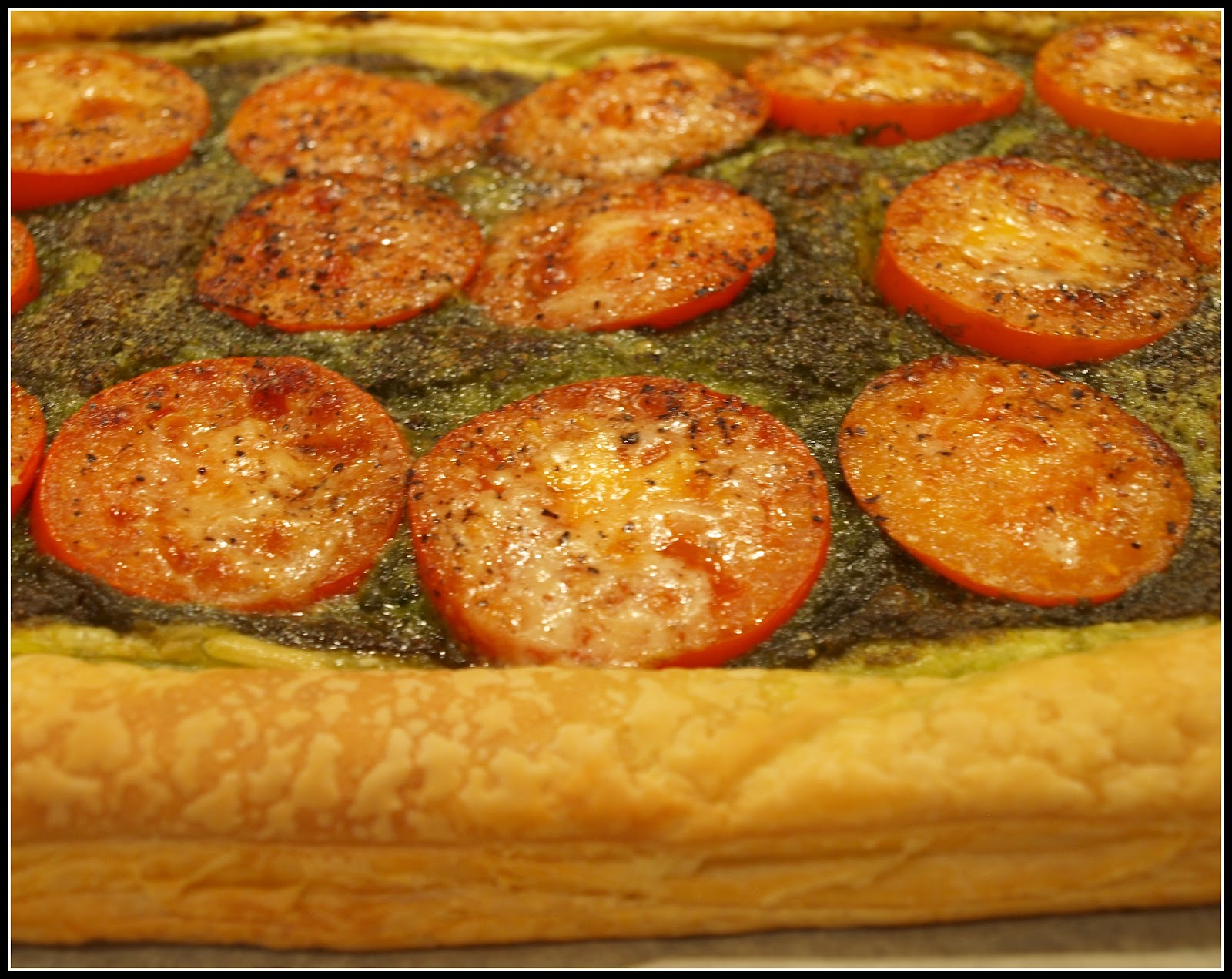 Mark's Veg Plot: Easy tomato and pesto tart