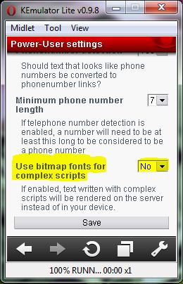 Bitmap fonts Read My Language on Mobile Phone