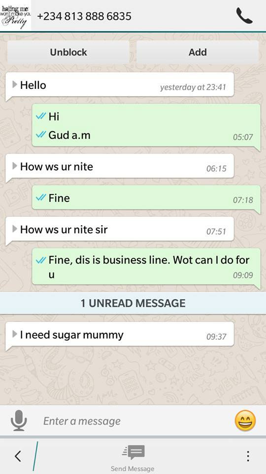 You Won't Believe What A Married Lady Received On Whatsapp (Screenshot)