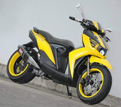 Modif Yamaha Mio Soul GT Ala Muscle Car ~ modifikasi motor