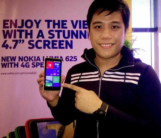 Nokia Lumia 625, Nokia Lumia 625 Philippines, Mark Milan Macanas