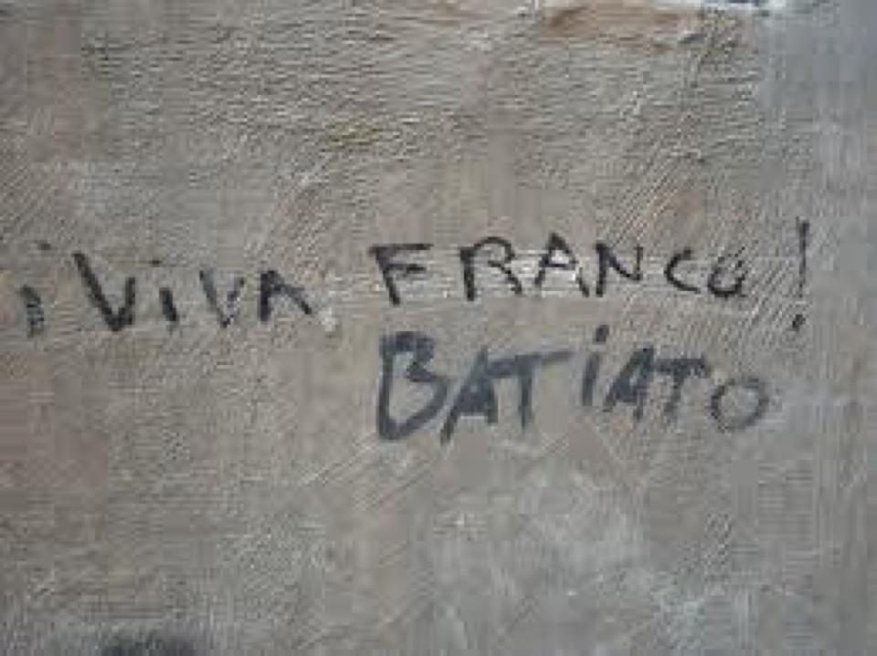 Pintadas, grafittis y otras mierdas del arte hurvano ese. Viva+Franco