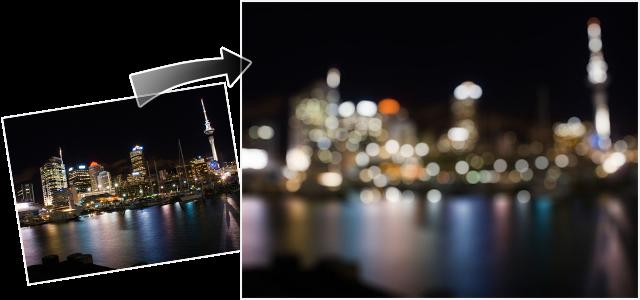 カメラの焦点ボカシに近いブラー効果を再現するプラグイン「Focus Blur」