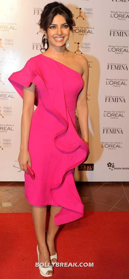 Priyanka Chopra Pink Dress - Celebrity Pictures in Neon Dresses - Bollywood, Hollywood