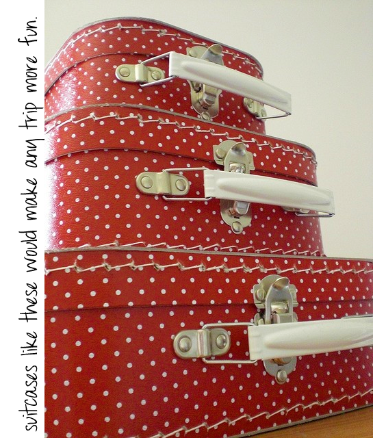 polkadot suitcases