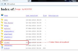 folder slims yang diakases dari web browser