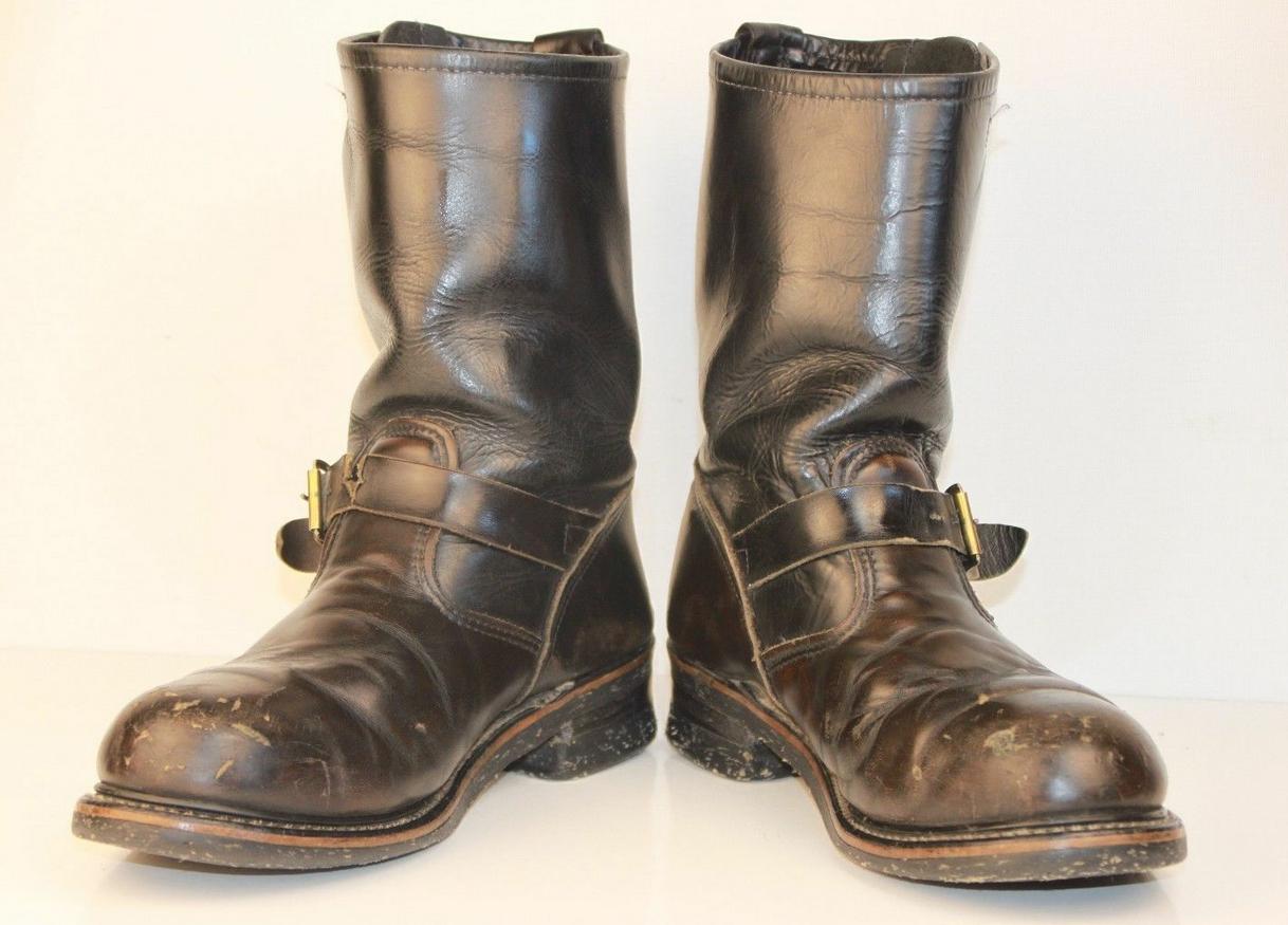thinctank vintage steel toe engineer boot