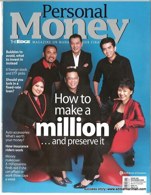 jutawan ikon MLM CDM Siti Rohana dan CDM Azlan dalam bisnes premium beautiful bersama jutawan internet irfan khairi dalam majalah personal money
