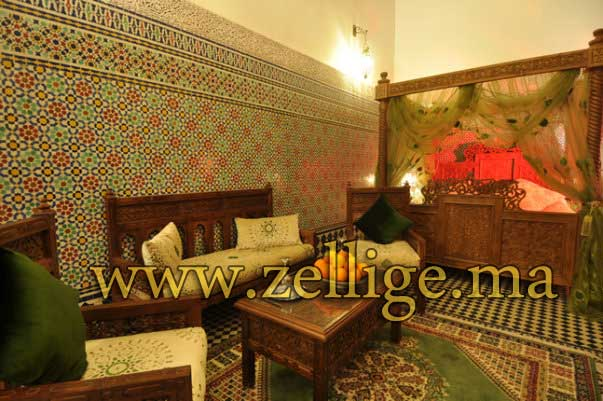 riad dar zellige magnifique riad en zellige marocain. Black Bedroom Furniture Sets. Home Design Ideas