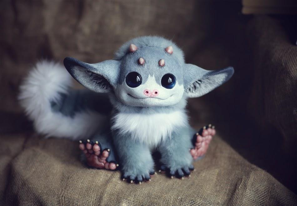 07-My-Little Dragon-Grey-Elf-Tiny-Griffins-Santani-www-designstack-co