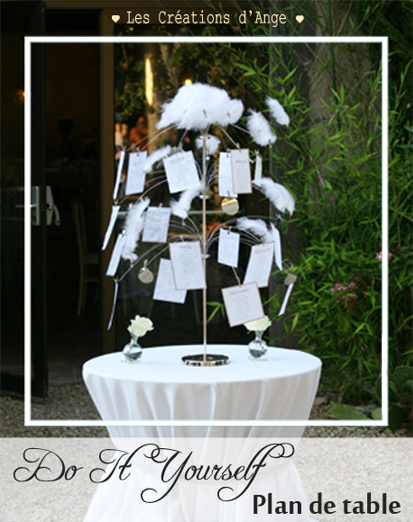 les cr ations d 39 ange le blog diy arbre plan de table. Black Bedroom Furniture Sets. Home Design Ideas