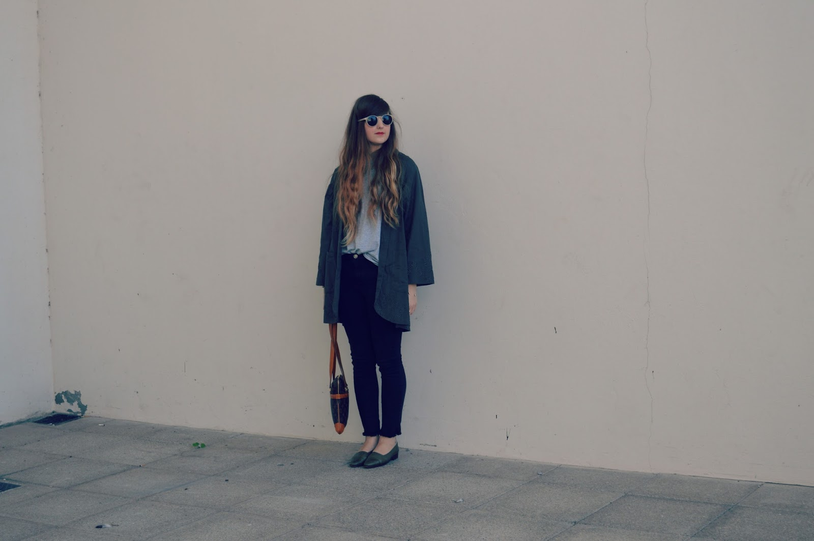 topshop duster coat whistles jeans louis vuitton bag chanel shoes